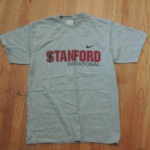 Stanford Invitational Nike T Shirt Gray Size Small